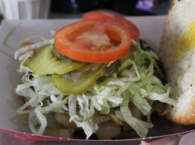 Cosmic Ray's Starlight Cafe veggie burger