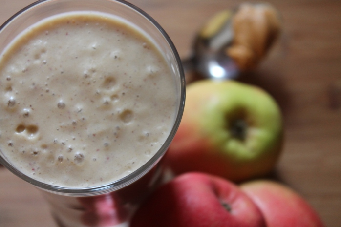 Banana Apple Peanut Butter Smoothie