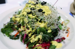 Microgreen and Kohlrabi salad