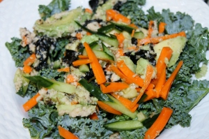 Raw Kale Sushi Salad